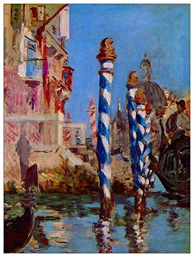 ArtPlaza TW92231 Manet Ãdouard-Grand Canal in Venice Decorative Panel, 39.5x51 Inch, Multicolored (Best Canals In Uk)