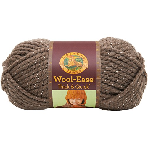 Wool Acrylic Knit (Lion  640-304 Wool-Ease Thick & Quick Yarn , 97 Meters, Gemstone)