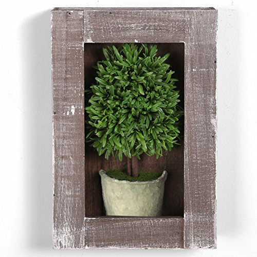 MyGift Mounted Artificial Topiary Ornament