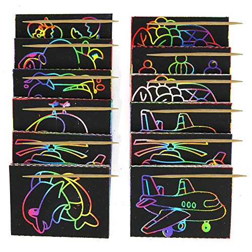 (Big Mo's Toys Scratch Art - Color and Scratch Cards Party Favors with Stylus - 20 Pieces)