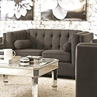 Coaster 504902 Home Furnishings Love Seat, Charcoal