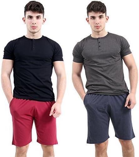 hombre PACK 2 Jersey Liso Pantalones cortos para hombre MULTIPACK Pijama Pantalones cortos Pantalones Pijama M L Xl Xxl Xxxl XXXXL - Vaqueros Marl & Burdeos, XXXG: Amazon.es: Ropa y accesorios