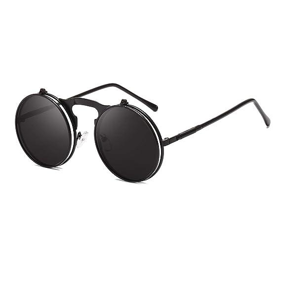 Amazon.com: Gafas de sol redondas para hombre y mujer ...