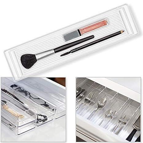 Hausfelder ORDNUNGSLIEBE Schubladen Ordnungssystem (6-teiliges Set)  Organizer zur Aufbewahrung für Schminktisch Kosmetik Küche Büro, variabel  und ...