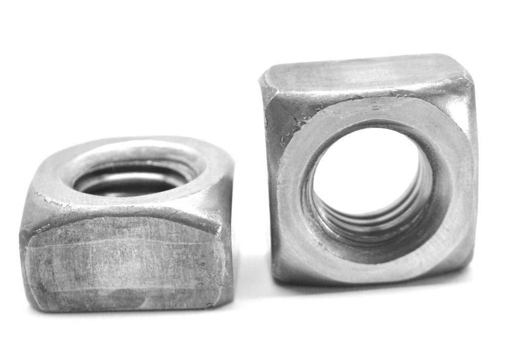 1/2''-13 Coarse Thread Grade 2 Regular Square Nut Low Carbon Steel Plain Finish Pk 100