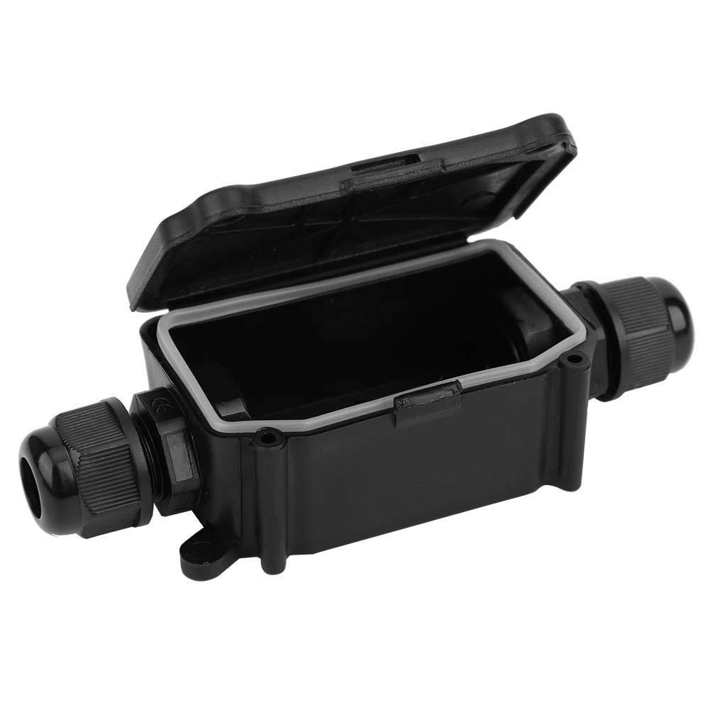 IP66 Waterproof Junction Box IP66 Waterproof Junction Box 2 Way Black Dustproof Distribution Cable Connector Case