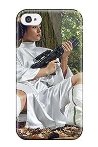 FrYxQLM5600GRXdz Tpu Phone Case With Fashionable Look For Iphone 4/4s - Leia