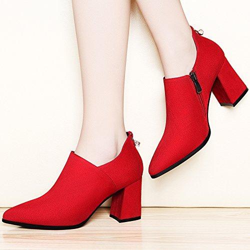 Mode Approximative Marée Printemps Korean Enfants Mariée talons De Correspondent Hauts Talons Khskx Gules Chaussures qHaZnw
