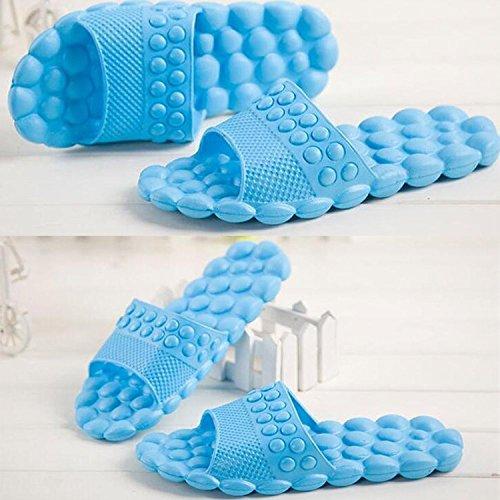 Maybest Unisex Bagno Doccia Pantofola Antiscivolo Bolla Spa Massaggio Scarpe Sandalo Famiglia Blu 2