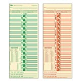 TOPS Bi-Weekly Time Cards, Green Ink Front, Red Ink Back, 3.5 x 9 Inches, 500-Count, Manila (1275)