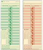 """TOPS Time Cards, Bi-Weekly, 2-Sided, Numbered Days, 3-1/2"""" x 9"""", Manila, Green/Red Print, 500-Count (1275)"""