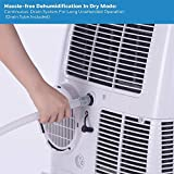 Honeywell HL09CESWK Portable Air Conditioner, 9,000 BTU Cooling, with Dehumidifier & Fan