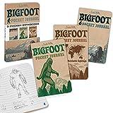 Archie McPhee 3 Pocket Notebooks, Bigfoot Pocket Journal, 3 Pack