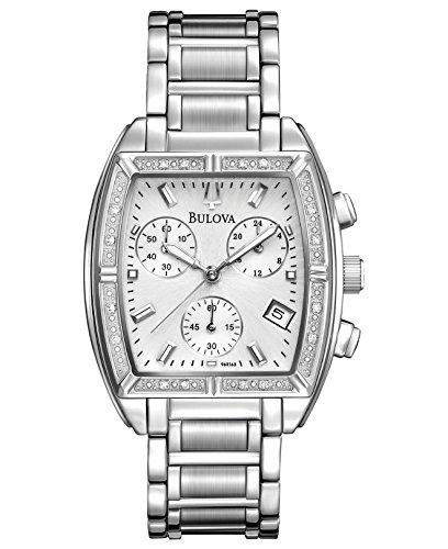 Bulova Diamond Accent Watch (Bulova Women's 96R163XG Quartz Diamond Accents Stainless Steel Bracelet Watch (Certified Refurbished))