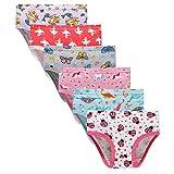 Finihen Girls Soft Cotton Underwear Bring Cool Breathable Comfort Toddler Briefs 3/4t Gray/Pink