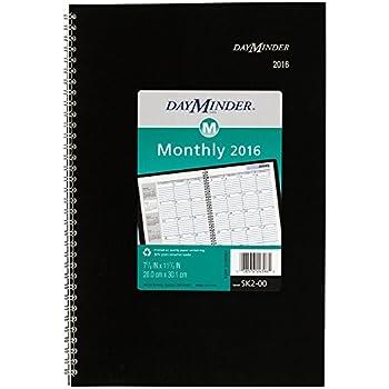 DayMinder Monthly Planner 2016, Wirebound, 7-7/8 x 11-7/8 Inches, Black (SK2-00-16)