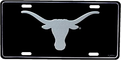 HANGTIME Texas Longhorns Diamond Emboss Metal License Plate 6 x 12