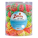 Zanies Plastic Lattice Balls Cat Toy Canister, 50-Pack, My Pet Supplies