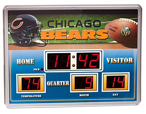 NFL Chicago Bears 14x19 Inch ScoreBoard-Clock-Thermometer (NG) by Team Sports America
