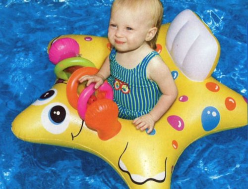 Inflatable Starfish Baby Pool Float Tube Starfish Baby Float