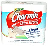 Charmin Ultra Strong Bathroom Tissue – 9 Big Rolls, Health Care Stuffs