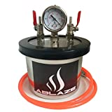 ABLAZE Small Mini 3 Quart Resin Trap/Vacuum Chamber Stainless Steel Degassing Urethanes Silicone Epoxies