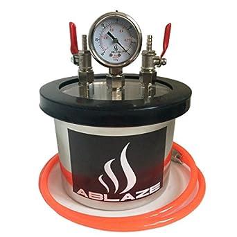 Ablaze Small Mini 3 Quart Resin Trap Vacuum Chamber Stainless
