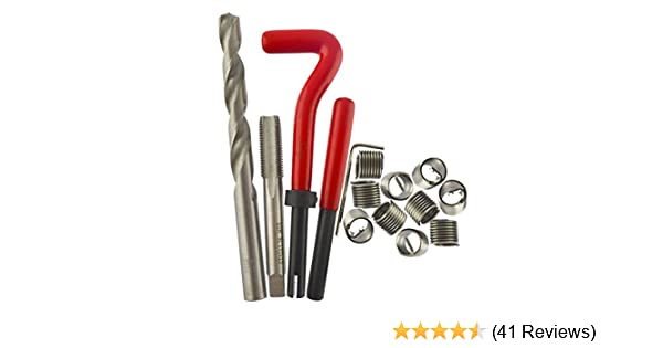 M10 x 1.25 M8 x 1.25 Dragway Tools Thread Repair Kit for Metric Size M6 x 1.0