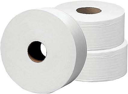 GEN GEN202 Jumbo JRT Bath Tissue 9 in Diameter 2-Ply 12 Rolls White