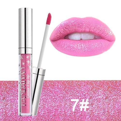 Lip Gloss for Women, Iuhan Waterproof Long Lasting Liquid Velvet Matte Lipstick Makeup Lip Gloss Lip (G)