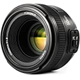 YONGNUO YN50mm F1.8 Lens Large Aperture Auto Focus Compact Lens with WINGONEER Flash Diffuser for Nikon Camera