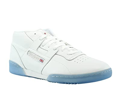 Reebok Men's Workout Mid Clean BWI Sneaker, White/Steel/Excellent Red, 8