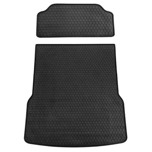 biosp Compatible with Tesla Model S 2016 2017 2018 2019 All Weather Black 2 pcs Front and Rear Cargo Liner Tray Trunk Mat Car Rear Boot - Weather Rear Boots