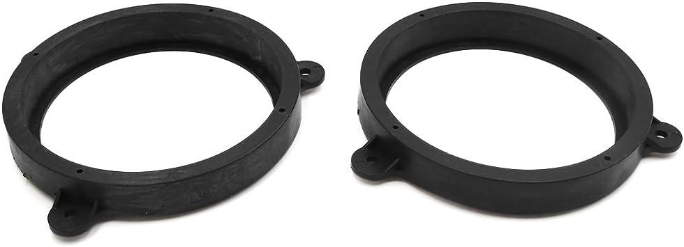 "2pcs Black 6.5/"" Car Speaker Mounting Spacer Adaptor Rings for Subaru Forester"