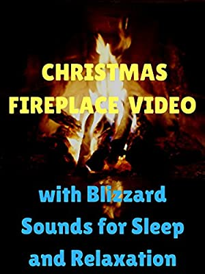 Christmas Fireplace Video with Blizzard Sounds for Sleep and Relaxation