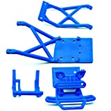 Traxxas Stampede XL-5 VXL 2WD Monster Jam BLUE BUMPER - SKID PLATES & MOUNT