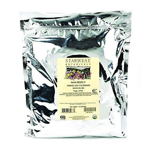 Starwest Botanicals Organic Ginkgo Leaf C S, 1 Pound