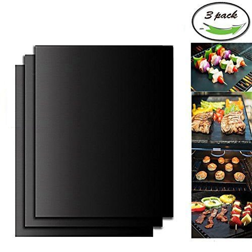 Cheap WISH4U Grill Mat Set of 3-100% Non-stick BBQ Grill & Baking Mats – FDA-Approved, PFOA Free, Reusable and Easy to Clean – Works on Gas, Charcoal, Electric Grill and More – 15.75 x 13 Inch