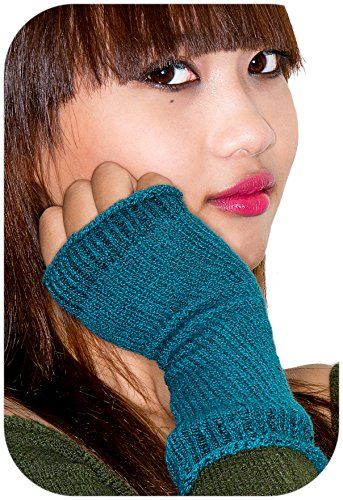 Aubergine 12 Inch Cozy & Chic All Natural Cotton Arm Warmers KD dance New York Stretch Knit Fingerless Gloves with Thumb Hole #Accessory #Fashion #FBlogger Made In USA
