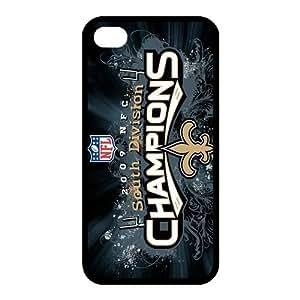 Custom New Orleans Saints NFL Back Cover Case for iphone 4,4S JN4S-1252 by kobestar