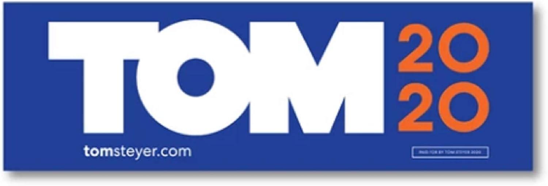 Tom Steyer 2020 Logo Bumper Sticker 9x3
