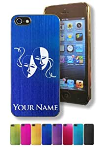 Apple Iphone 5/5S Case/Cover - DRAMA MASK / THEATER MASK - Personalized for FREE (Click the CONTACT SELLER button after purchase and send a message with your case color and engraving request)