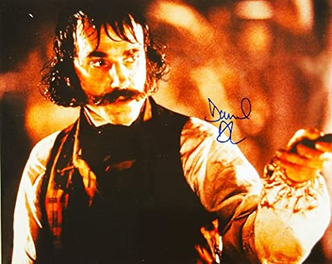 Daniel Day-Lewis Autographed 8x10 Color Photo - Signed in Blue Sharpie - Obtained In Person - From Gangs of New York - Films: Lincoln / There Will Be Blood / My Left Foot - Out of Print - Rare - (Daniel Day Lewis Lincoln)