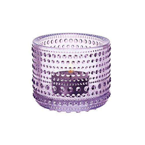 Holder Candle Iittala (Iittala Kastehelmi Tealight, Light Glass, Candle Holder, Lantern, Glass, Lavender, 6.4 cm, 1007721)
