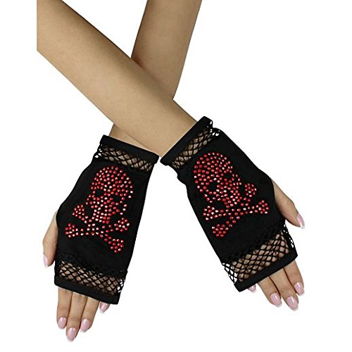 Gloves Costume Accessory Hand Accessories Halloween Glam Skull