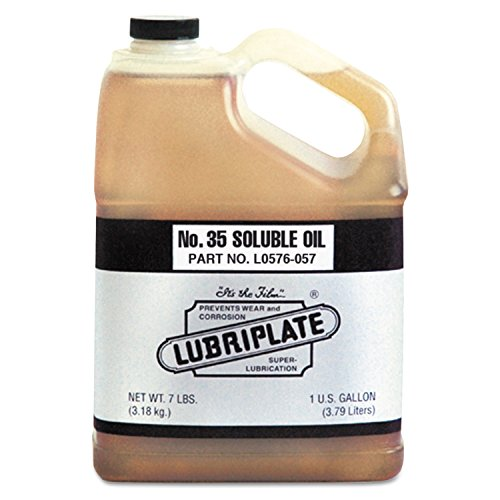 Lubriplate L0576-057 No. 35 Soluble Oils, 1 gal Bottle, 4/Carton, Brown by Lubriplate