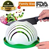 Salad Cutter Bowl, AngLink Salad Chopper Bowl 60 Seconds Salad Maker Family-Sized All in One for Kitchen Fast Fruit Vegetable Salad Slicer