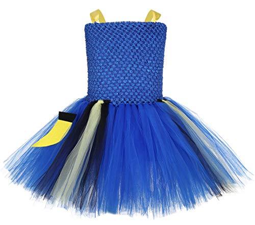 (Tutu Dreams Dory Costume Toddler Girls Nemo Tutu Dress Blue Fish Dress Up Clothes Birthday Halloween (Dory,)