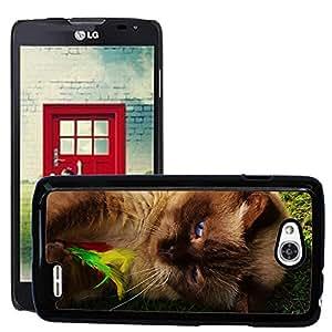 Super Stella Slim PC Hard Case Cover Skin Armor Shell Protection // M00147637 British Shorthair Cat Play Mieze // LG Optimus L90 D415