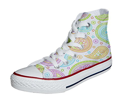 Converse All Star Customized - zapatos personalizados (Producto Artesano) Colorful Paisley